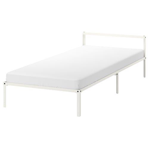 GRIMSBU bed frame white/Luröy 202 cm 92 cm 55 cm 27 cm 55 cm 21 cm 200 cm 90 cm