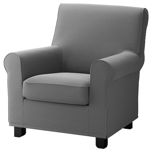 GRÖNLID armchair Ljungen medium grey 87 cm 84 cm 90 cm 10 cm 60 cm 45 cm 53 cm 45 cm