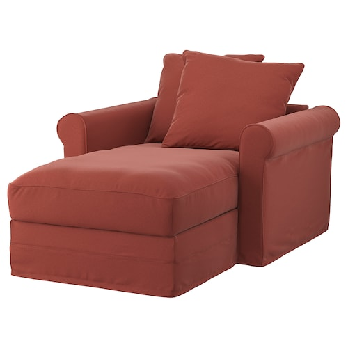GRÖNLID chaise longue Ljungen light red 104 cm 117 cm 164 cm 7 cm 18 cm 68 cm 81 cm 126 cm 49 cm