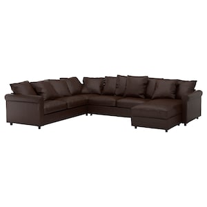 Cover: With chaise longue/kimstad dark brown.
