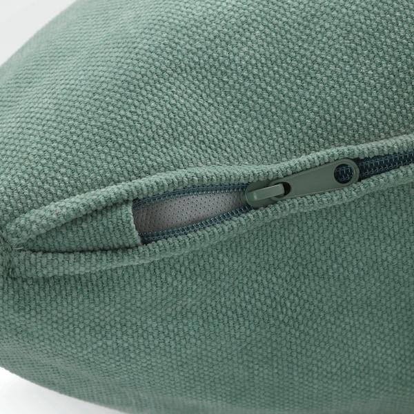 GRÖNLID Cover for 2-seat sofa-bed section, Ljungen light green