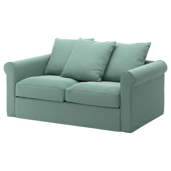 GRÖNLID Cover for 2-seat sofa, Ljungen light green