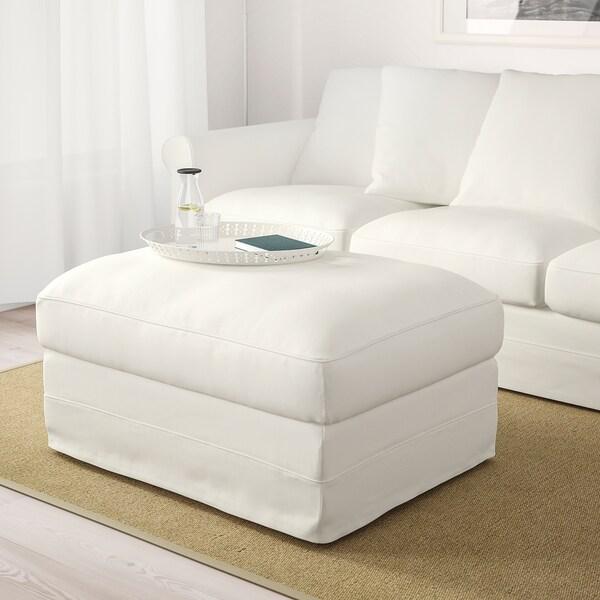 GRÖNLID Footstool with storage, Inseros white