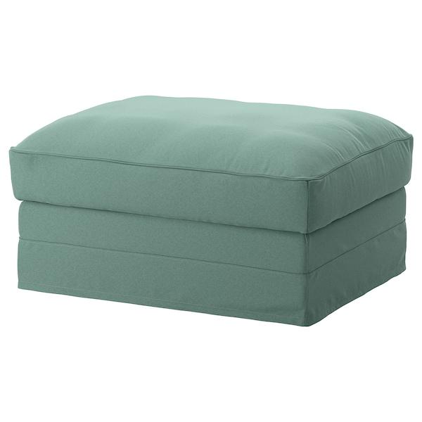 GRÖNLID Footstool with storage, Ljungen light green