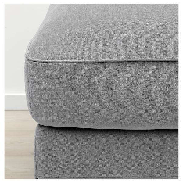 GRÖNLID Footstool with storage, Ljungen medium grey