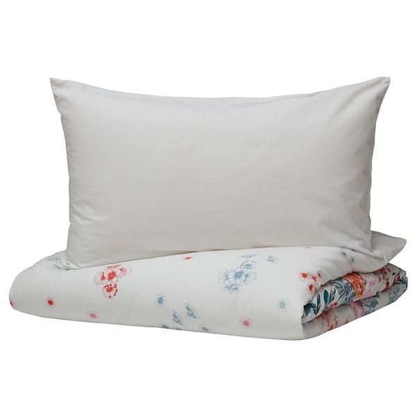 GRÖNVIDE quilt cover and 2 pillowcases multicolour 152 /inch² 2 pack 200 cm 200 cm 50 cm 60 cm