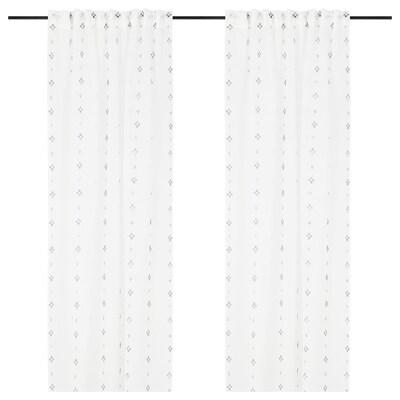 GULVINGFLY Sheer curtains, 1 pair, white, 145x133 cm