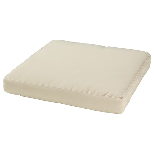 HÅLLÖ seat cushion, outdoor beige 62 cm 62 cm 8 cm