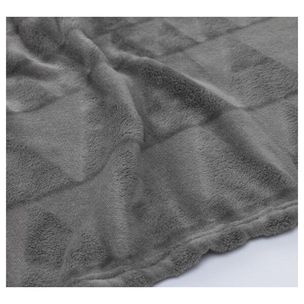 HARKÅL Blanket, grey, 200x200 cm