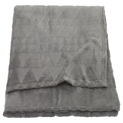 HARKÅL Blanket, grey, 150x200 cm