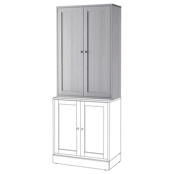 HAVSTA Cabinet, grey, 81x35x123 cm