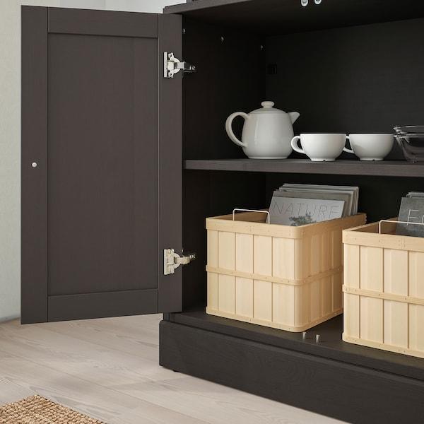 HAVSTA Storage combination w glass-doors, dark brown, 81x47x212 cm