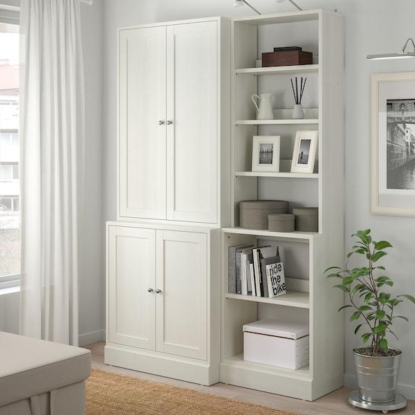 HAVSTA Storage combination, white, 142x47x212 cm