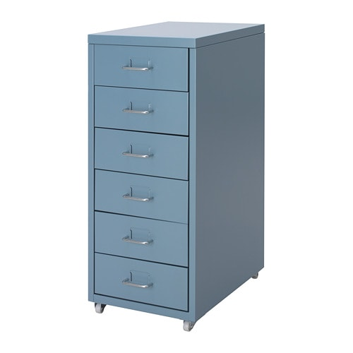 Helmer Drawer Unit On Castors Blue