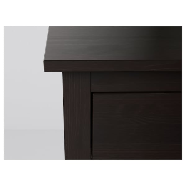 HEMNES Chest of 2 drawers, black-brown, 54x66 cm