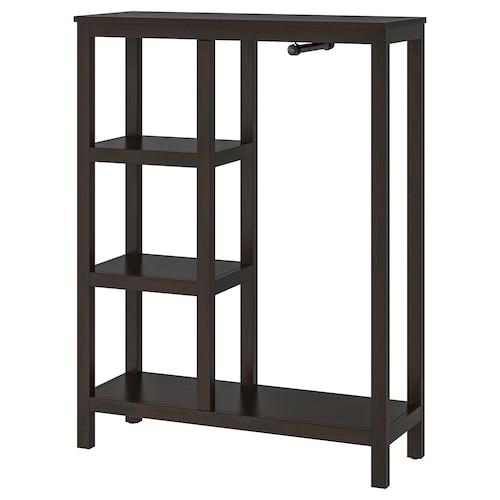 HEMNES open wardrobe black-brown 99 cm 37 cm 130 cm