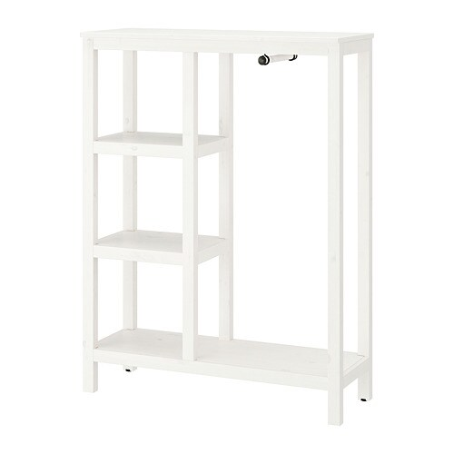Ikea Guardaroba Hemnes.Hemnes Open Wardrobe White Stained