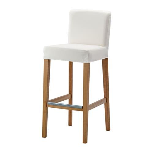 Henriksdal bar stool with backrest 74 cm ikea - Tabouret de bar ikea pliant ...