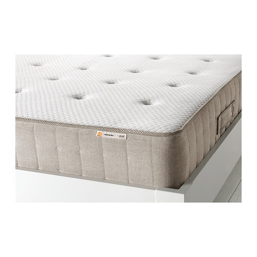 Hesseng pocket sprung mattress firm natural colour 90x200 cm ikea - Matelas ikea 140x200 ...