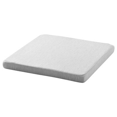 HILLARED Chair pad, light grey, 36x36x3.0 cm