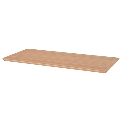 HILVER Table top, bamboo, 140x65 cm