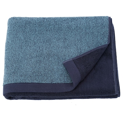 HIMLEÅN Bath towel, dark blue/mélange, 70x140 cm
