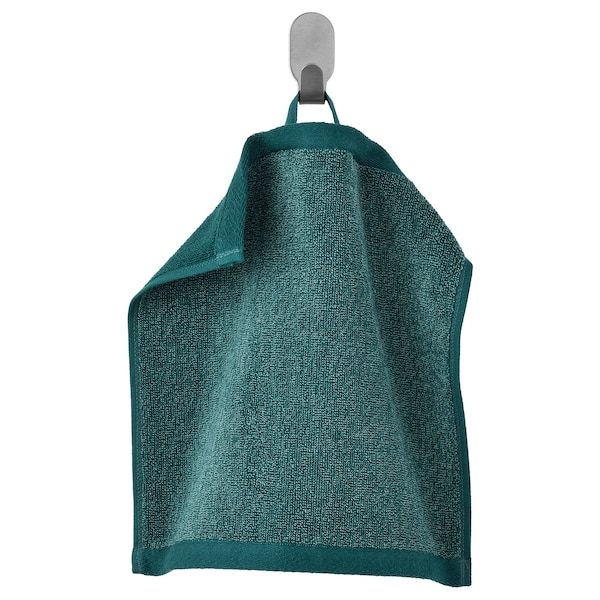 HIMLEÅN Washcloth, turquoise/mélange, 30x30 cm