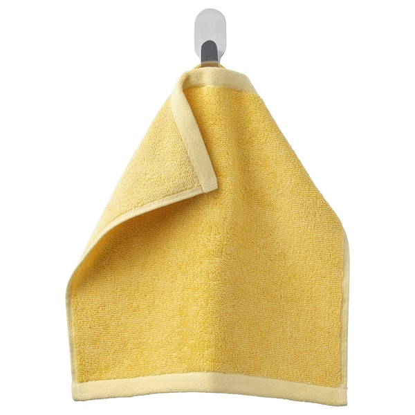 HIMLEÅN Washcloth, yellow/mélange, 30x30 cm