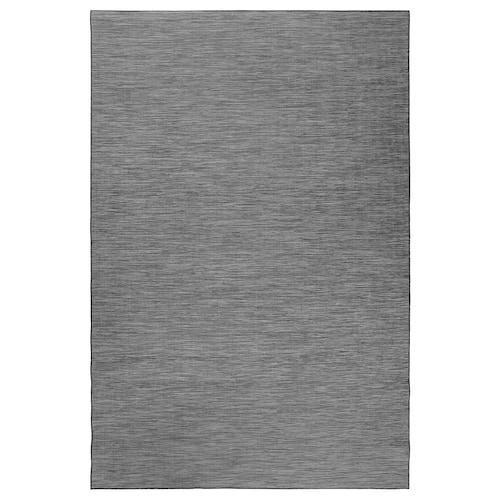 HODDE rug flatwoven, in/outdoor grey/black 300 cm 200 cm 5 mm 6.00 m² 1150 g/m²