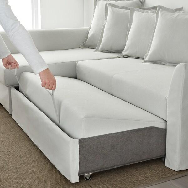 Divano Letto Ad Angolo Ikea.Holmsund Corner Sofa Bed Orrsta Light White Grey Ikea