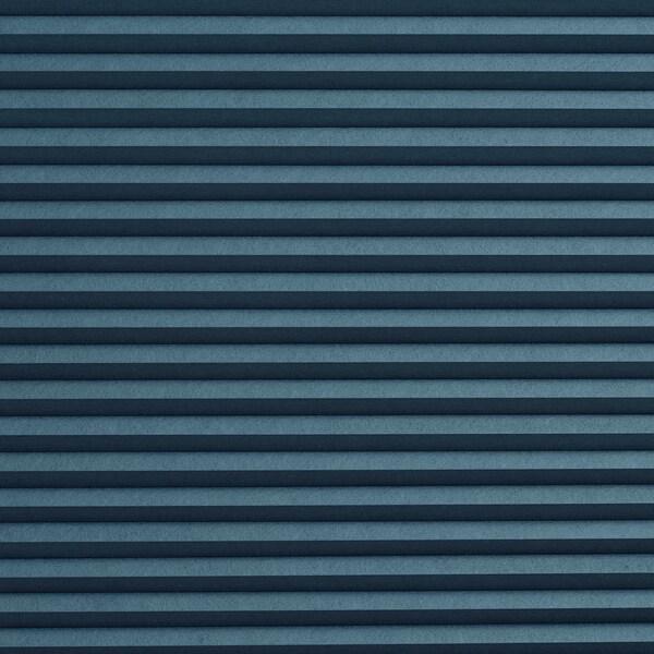 HOPPVALS Room darkening cellular blind, blue, 80x155 cm