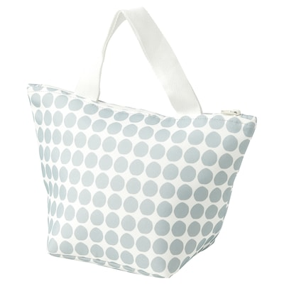 HOPSÄTTA Lunch bag, grey/white, 30x15x20 cm