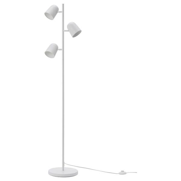HUDENE Floor lamp with 3-spot, white, 150 cm