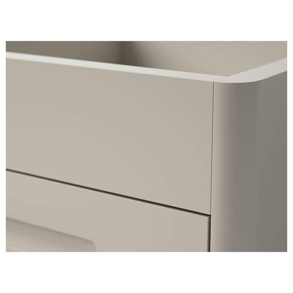 IDÅSEN Drawer unit on castors, beige, 42x61 cm