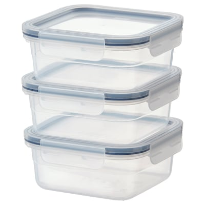 IKEA 365+ Food container, square/plastic, 750 ml