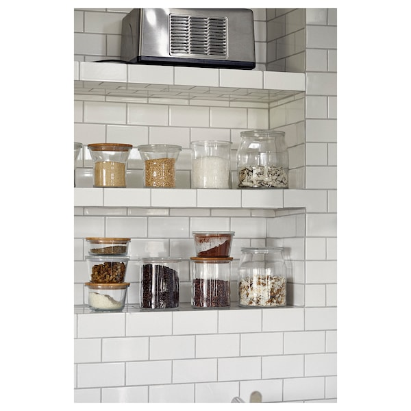 IKEA 365+ Food container with lid, glass, 600 ml