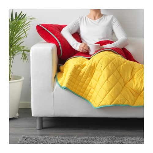 IKEA PS 2017 Throw with cushion cover IKEA If you fold the throw into the cover, you get a comfortable pillow and a practical storage solution.