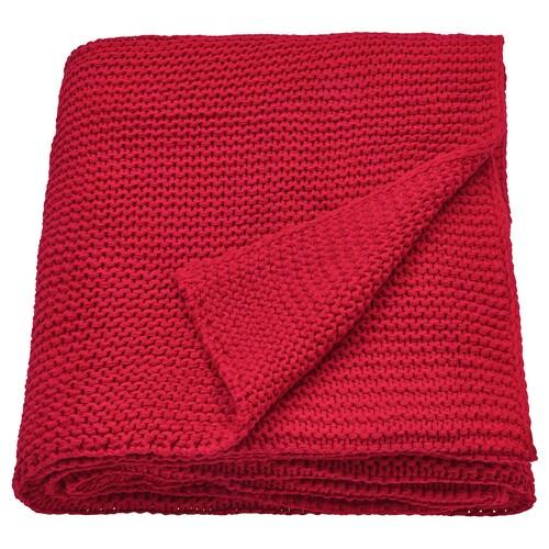 INGABRITTA throw red 170 cm 130 cm