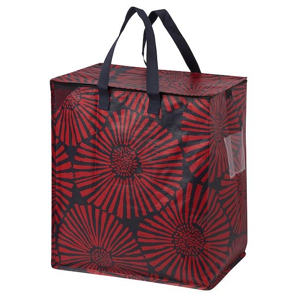 INLUPP Bag, dark blue/red, 47 l