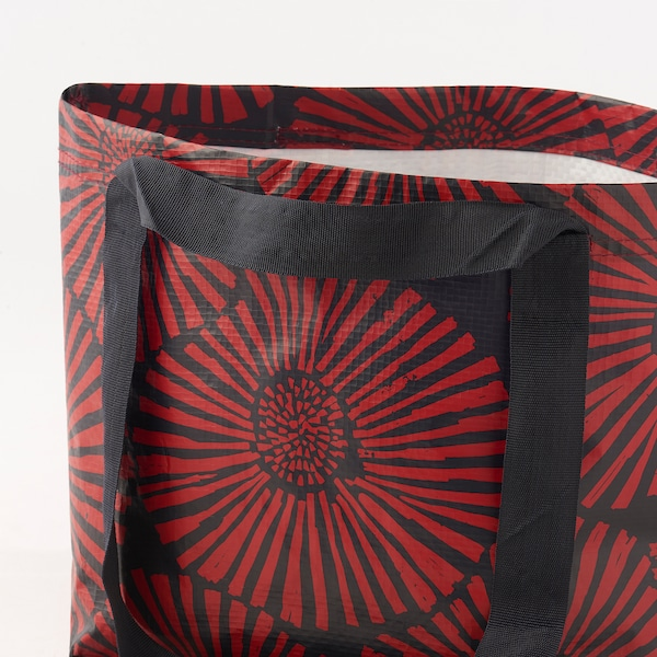 INLUPP Bag, dark blue/red, 27x27 cm