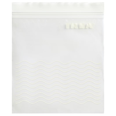 ISTAD Resealable bag, white, 1.0 l