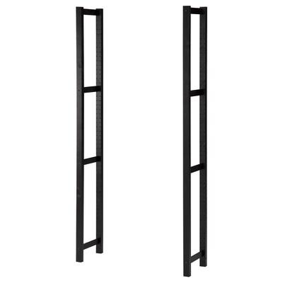 IVAR Side unit, black, 30x179 cm