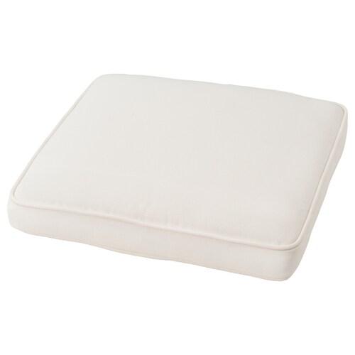 JÄRPÖN/DUVHOLMEN chair cushion, outdoor white 50 cm 50 cm 7 cm