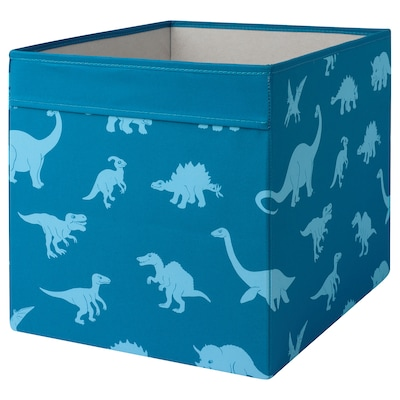 JÄTTELIK Box, patterned, 33x38x33 cm