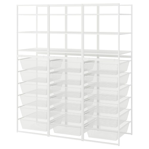JONAXEL frame/mesh baskets/shelving units 148 cm 51 cm 173 cm