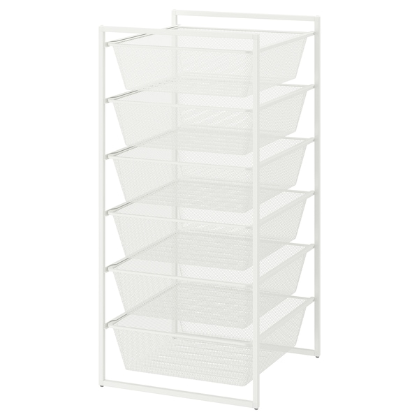 JONAXEL Frame with mesh baskets, white, 50x51x104 cm