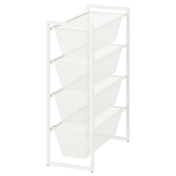 JONAXEL Frame with mesh baskets, white, 25x51x70 cm
