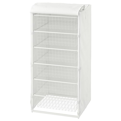 JONAXEL frame with wire baskets/cover 50 cm 51 cm 104 cm