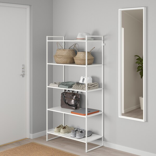JONAXEL Shelving unit, white, 80x38x160 cm