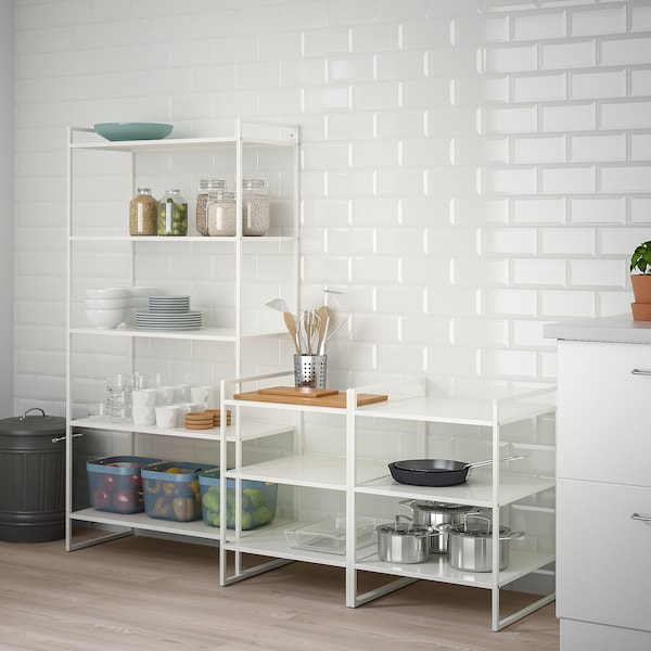JONAXEL Shelving unit, white, 182x51x160 cm